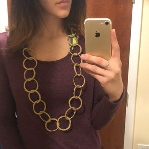 Jewelry - Oversized gold link necklace